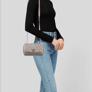 Chanel Paris Bombay 2 Tone Metallic Flap Bag